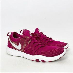 Nike Free TR 7 Fuchsia Running Shoes Sneakers  9